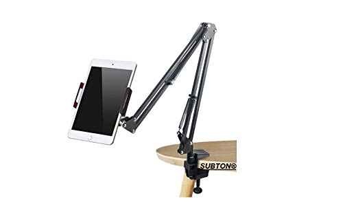 SUBTON Overhead Tripod Gooseneck Mobile Stand for YouTube Video Recording Online Classes Cooking and Sketch Videos | Compatible with All Smartphones