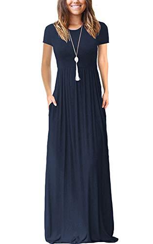Best blue casual maxi dress