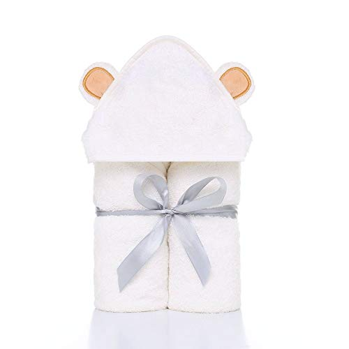 TMMDZZ Premium Baby Towel Baby Washcloth Set Organic Bamboo Baby Bath Towel Extra Soft and Thick Newborn Hooded Towel Baby Washcloth