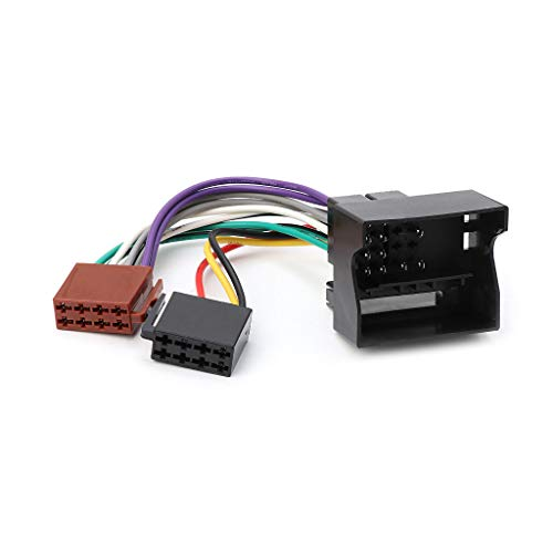 JENOR Câble adaptateur ISO pour autoradio stéréo Peugeot 207 307 407