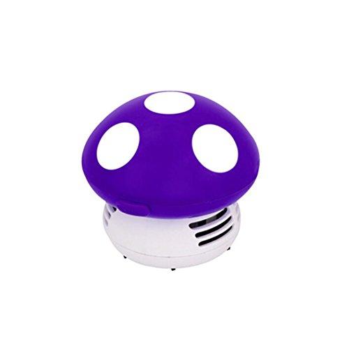 WINOMO Mini Aspirador de Polvo de Limpiador del Escritorio de Diseño de Estampado (púrpura)