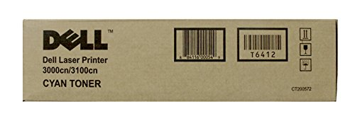 NEW Dell OEM Toner T6412 (CYAN) (1 Cartridge) (Color Laser Supplies) by Dell