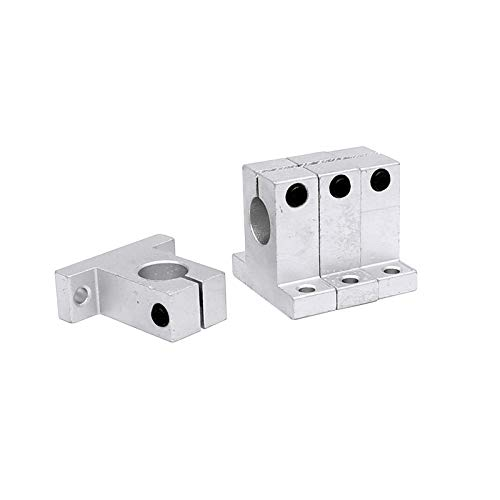 FKG SK16 Aluminum Linear Motion Rail Clamping Guide Support for 16mm Diameter Shaft, Set of 4