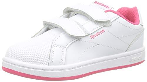 Reebok Royal Comp CLN 2V, Zapatillas de Deporte Niña, Multicolor (White/Twisted Pink 000), 31.5 EU