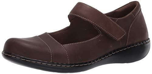 Clarks Women's Ashland Bliss Maryjane Taupe Leather 7 Wide