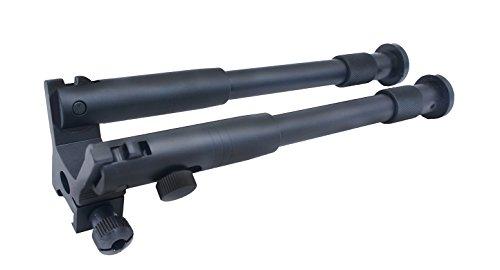 Mestart Tactical Bipod OP-I Aluminium Foldable Adjustable Height Fits Picatinny Rail