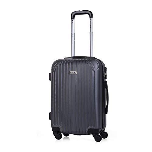 ITACA - Maleta de Viaje Cabina rígida 4 Ruedas 55 cm Trolley abs. Equipaje de Mano. pequeña cómoda y Ligera. Low Cost ryanair. Estudiante. Calidad y diseño. t71550, Color Antracita