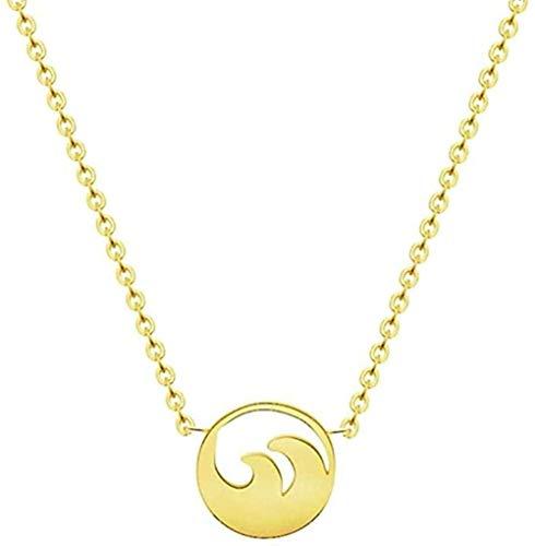 LBBYMX Co.,ltd Collar Ocean Wave Collar Gargantilla Colgante Cadena Gargantilla Collar Mujer Dama de Honor Regalo Collar