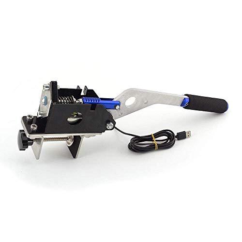 PC USB ハンドブレーキ リニアハンドブレーキをシミュレートロジクール G27 G29のレースゲーム用 14ビット (ブルー,クランプ付き)