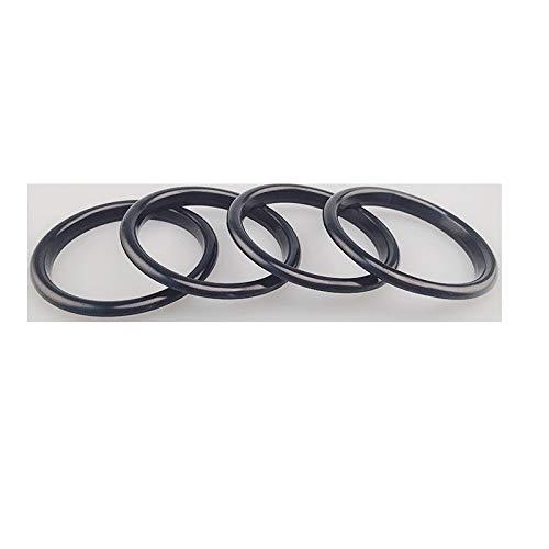 Sostituzione 4pc AC Aria condizionata Vent Uscita Interno ed Esterno Anello di Copertura Trim/Misura for Audi A3 S3 Q2 2013-2019 Car Styling Accessori (Color Name : Inner Ring Black)