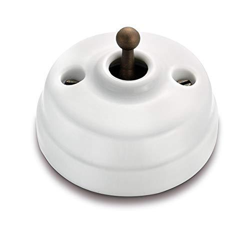 Fontini - Interruptor dimbler 10a 250v porcelana patine pack