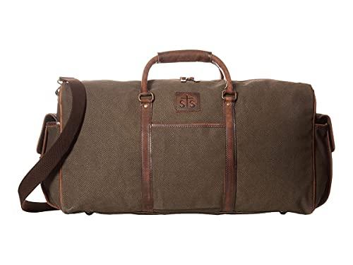 StS Ranchwear Western Bag Canvas Zip Closure Travel Brown STS34201