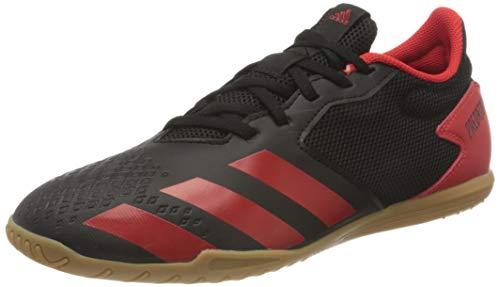 Adidas Predator 20.4 IN Sala, Zapatillas Deportivas Fútbol Hombre, Negro (Core Black/Active Red/Core Black), 45 1/3 EU
