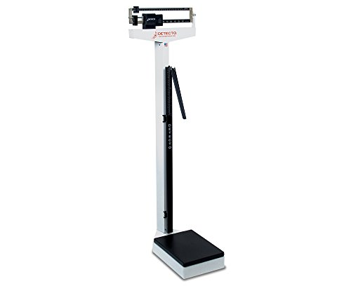 Detecto 339 Dual Reading Eye Level Physicians Scale with Height Rod
