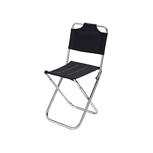 lingqing Silla plegable portátil Silla de mochilero Silla de camping al aire libre compacta para acampar senderismo jardinería viajes playa picnic con mochila ligera
