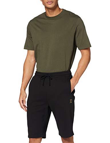 JP 1880 Homme Grandes Tailles Pantacourt de mélangé Coton Noir 5XL 702636 10-5XL