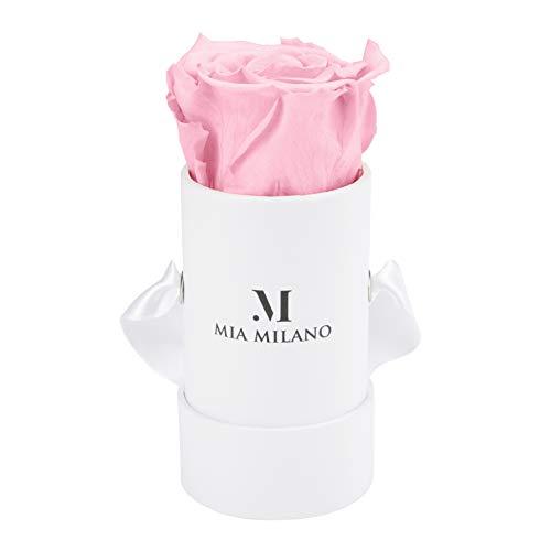 Mia Milano Rosenbox mit Infinity Rosen I 3 Jahre haltbar I Konservierte Blumen in einer Dose