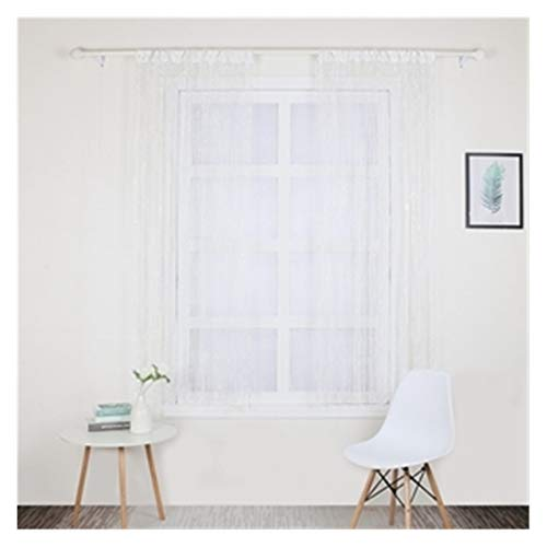 Crystal Beads Chains String Curtain Crystal Curtain Flash Line Shiny Tassel String Door Curtain Window Room Divider Home Decoration Beaded Door Curtain ( Color : 201 white , Size : W100x200cm 1PC )