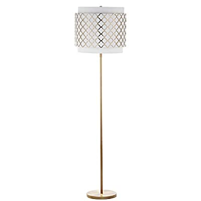 "Safavieh""Lighting Collection Priscilla 61.5"" Floor Lamp Gold"