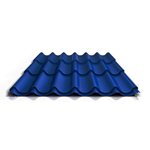 Pfannenblech | Ziegelblech | Dachziegelblech | Profil PS47/1060RT | Material Stahl | Stärke 0,50 mm | Beschichtung 25 µm | Farbe Enzianblau