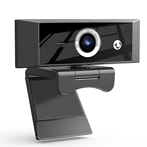 1080P Full HD con Micrófono Y Cubierta De Privacidad, USB Web Camera con Trípode, para Portátil Videollamadas Conferencias Juegos Plug