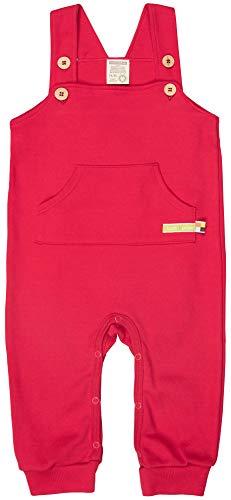 loud + proud Unisex Baby Bio Baumwolle, GOTS Zertifiziert Latzhose, Rot (Tomato to), (Herstellergröße: 74/80)