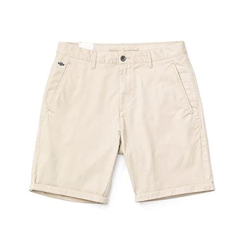 YOUQU Bermudas Hombre,Pantalones Cortos para Correr con Cordón Informal para Correr En La Playa,Pantalones De Chándal Transpirables Sueltos Básicos De Verano,Beige,34