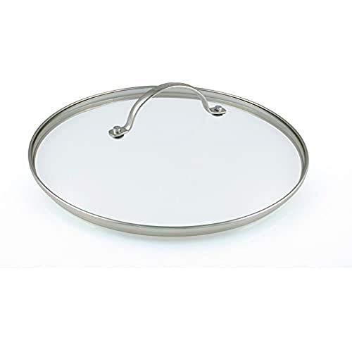 GreenPan Universal Glasdeckel für Bratpfanne und Kochtopf mit Edelstahl Griff, Spülmaschinengeeignet - 26 cm, Transparent
