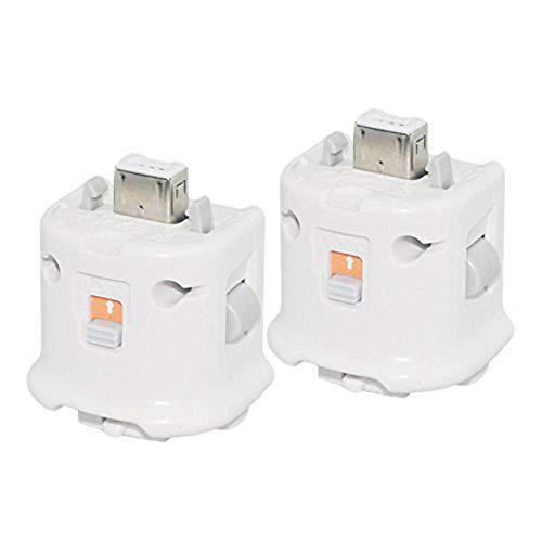 2 Adaptador Motion Plus del Sensor Externo para Nintendo Wii Remoto Controlador(Blanco_COOLEAD)