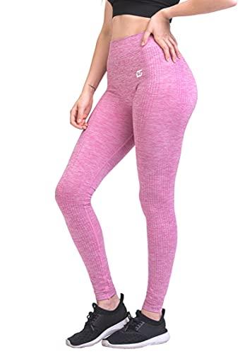 GYMTEX Leggings sin costuras para mujer, ideales como pantalones de deporte, pantalones de...