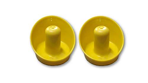 Laxmi Ganesh Billiard Set of 2 Air Hockey Pushers and Striker (Yellow)