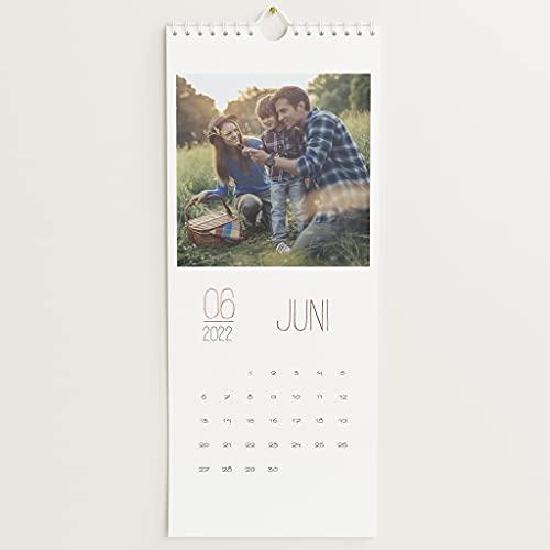 sendmoments Fotokalender 2022 mit Veredelung in Roségold, Lieblingsjahr, Wandkalender mit persönlichen Bildern, Kalender für Digitale Fotos, Spiralbindung, Hochformat 148x360