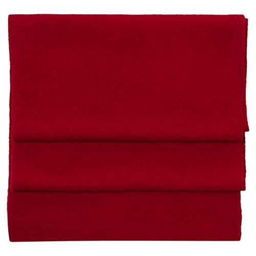 Sciarpa Merino in Cashmere - Miscela di lana di lusso - Sciarpe morbide e calde per uomo e donna - Rosso