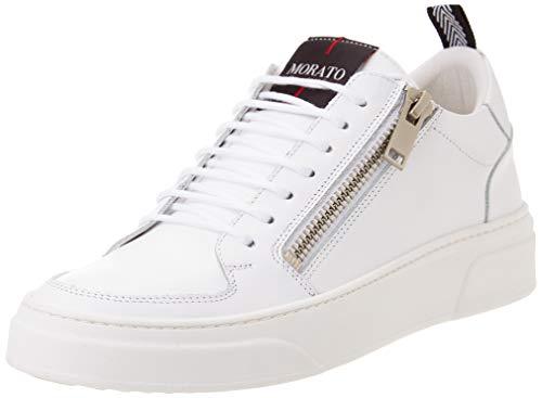 Antony Morato Sneaker Token IN Pelle, Oxford Plano Hombre, Color Blanco, 40 EU