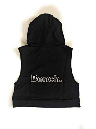 Bench! Mädchen Hoodie Ärmellos Kapuzenpullover Sweatshirt Sweathoodie Pullover (128/134)