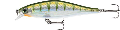 Rapala Unisex-Adult Shadow Rap Shad Locken, Gelber Barsch, 9cm