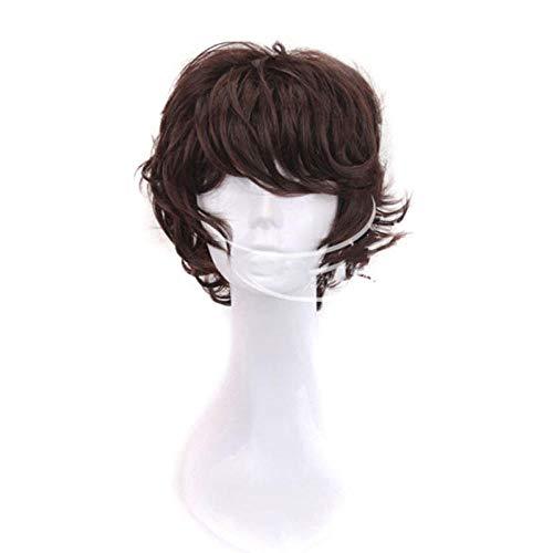 Anime parrucca anime cos parrucca wenhao wild dog versione originale di marrone scuro, marrone scuro