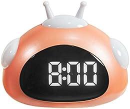 Tamkyo Wekker schattig bureau klok intelligente achtergrond verlichting/temperatuur/snooze wekker met nachtlicht oranje
