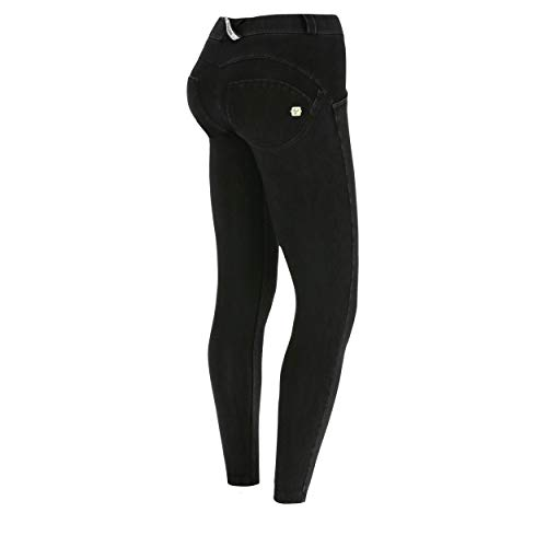 Freddy WR.UP® 7/8 Länge Regular Waist Super Skinny Damen Hose Stretch-Jersey Schwarz XS