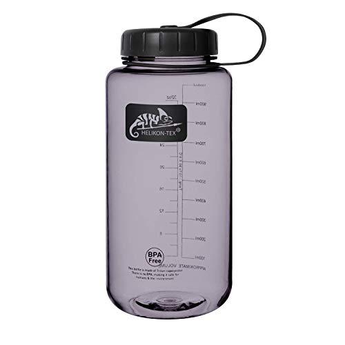 Helikon-Tex, borraccia unisex adulto, in TRITAN Bottle Wide Mouth (1 litro) – nero, fumo, taglia unica