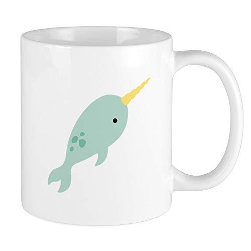 CafePress–Narwal Meer Wal Tier Tassen,–Einzigartige Kaffee Tasse, Kaffeetasse, Tee Tasse, weiß, S