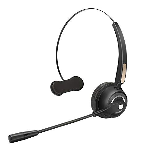 TelPal Wireless Headset Noise Cancelling Bluetooth Headphones with Mic PC Gaming Headset, Best Call Center Headset with Microphone, Rechargeable Headphones for Business & Work, PC/Mobile Compatible