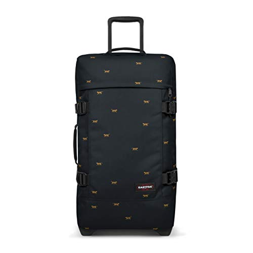 Eastpak Tranverz M Suitcase, 67 cm, 78 L, Mini Tiger (Black)
