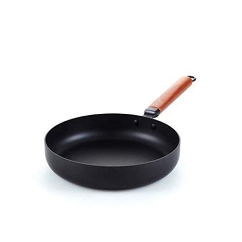 PNLD Sartén antiadherente de hierro fundido de 26 cm (color: negro, tamaño de la hoja: 26 cm)