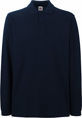 Fruit of the Loom - Premium Longsleeve Polo - Modell 2013 / Deep Navy, XL XL,Deep Navy