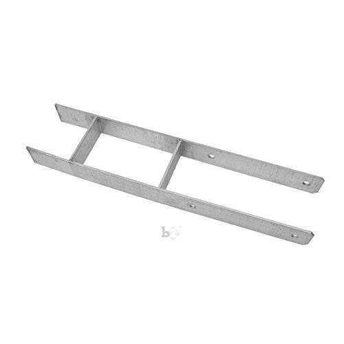 Unbekannt Pfostenträger Pfostenanker H-Form verzinkt 161x5,6x600 mm