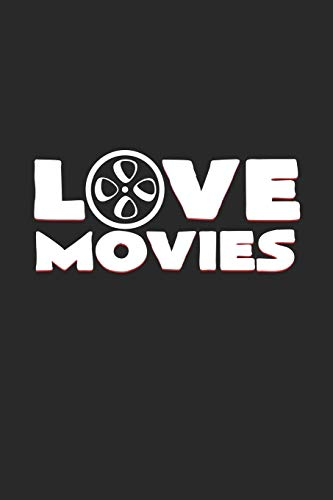 love movies: 6x9 Movies | blank with numbers paper | notebook | notes