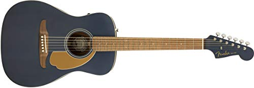 Fender Malibu Player Acoustic Guitar - Midnight Satin - Walnut Fingerboard