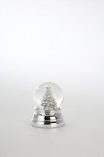 Weihnachtsdeko Schneekugel Christbaum klein, versilbert anlaufgeschützt