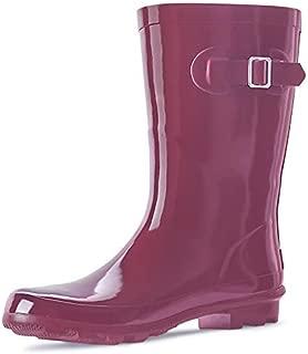 Women's Rubber Rain Boots Printed Waterproof Women Rain Footware, Garden Boots